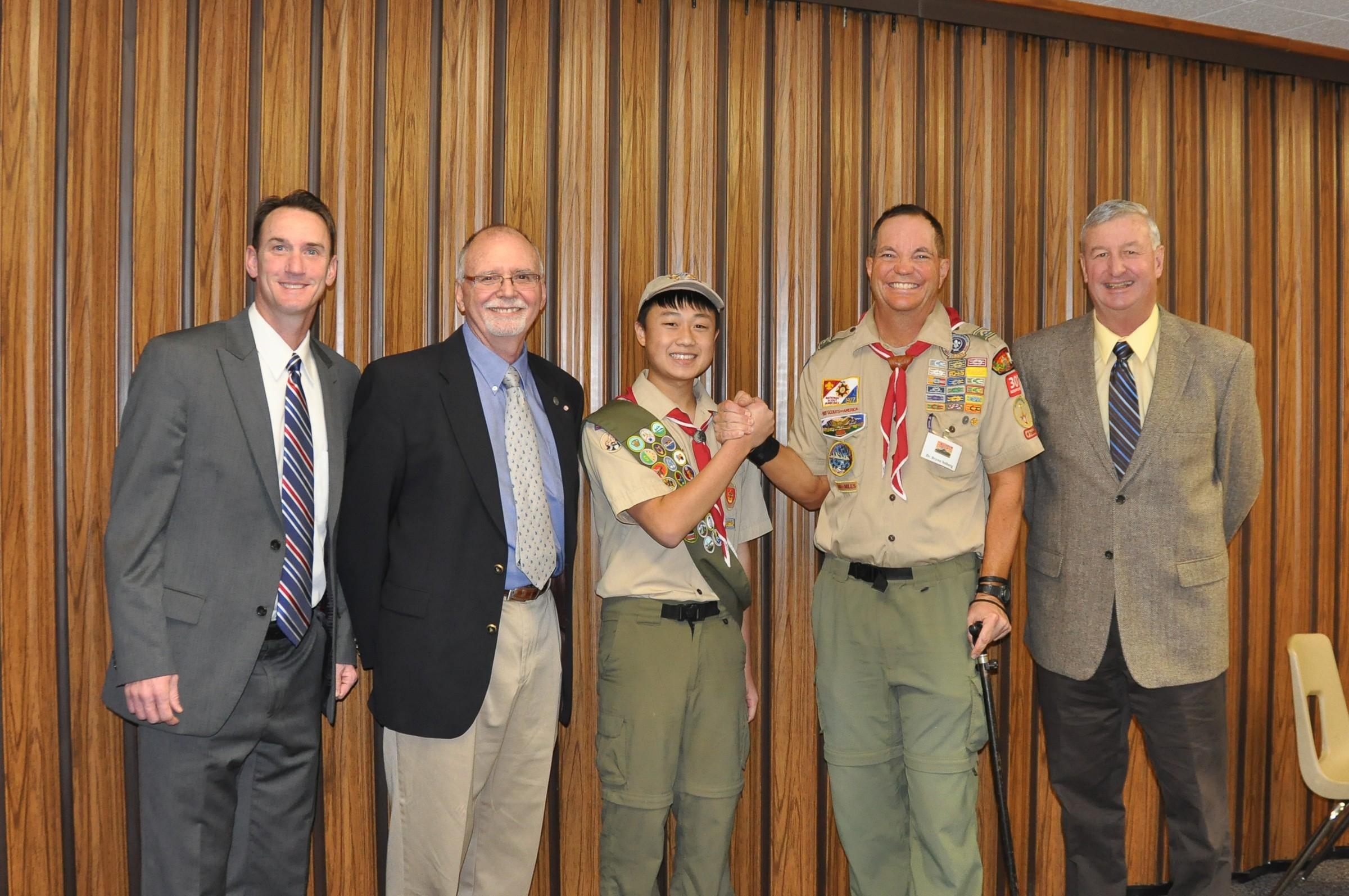 Nathan Khuu earns his Eagle Scout Rank